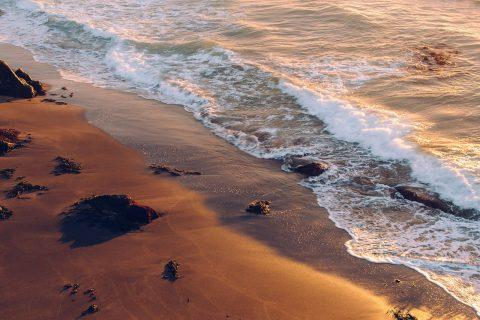Wind wild sea